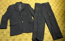 EUROPA COLLECTION FOR NORDSTROM Black Striped Boy's Pant Suit Sz 12R B5082