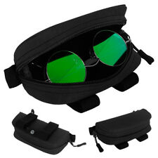 Tactical Molle Belt Sunglasses Case Eyeglasses Pouch Glasses Bag Outdoor Black