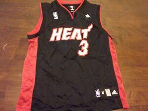 Dwyane Wade used youth medium 10-12 Adidas Miami Heat NBA jersey