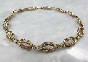 """12k 1/20 Gold Filled Sterling Silver Chain Necklace 13-3/4"""" ~ 43.7g ~ 9-K1323"""
