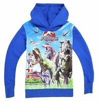 New Kids Boys Jurassic World Dinosaur Children Hoodie Top suit 3 4 5 6 7 8 years