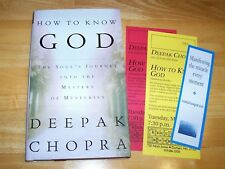 Deepak Chopra How To Know God book Signed 1st edition 2000 hardcover book