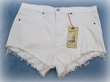 Women's Plus Size Judy Blue High Waist Cutoff Shorts Size 1X White NWT