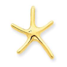 14k Yellow Gold Starfish Chain Slide D3362