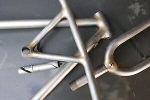 "Ritchey 19"" SUPER COMP fillet brazed steel vtg mtb frame BULLMOOSE handlebars"