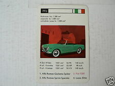 28-CLASSIC SPORTCARS 4-3 FIAT 1200 CABRIO KWARTET KAAR, QUARTETT CARD,SPIELKARTE
