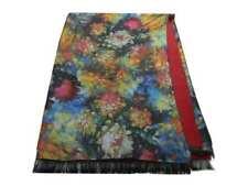 Sciarpa multicolor donna Pashmina double face unito rosso stola m lana colorata