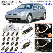 Deluxe White LED Interior Light Kit For Mk4 1997-2004 Volkswagen Golf  GTI R32
