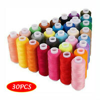 Sewing Threads 30 Colors Polyester 250Yards Per Spools for Hand & Machine Sewing