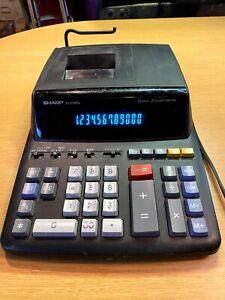 Sharp EL-2196BL Basic Calculator 12 Digit 2 Color Printer Adding Machine