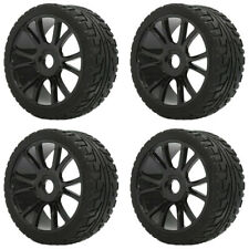 4Pack 1:8 RC Buggy On-Road Rubber Tires Tyre Wheels for Racing Traxxas Car