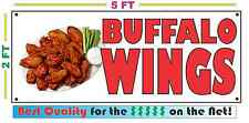 Full Color BUFFALO WINGS BANNER Sign Larger Size Best Quality for the $ Chicken