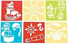 Pack of 12 - Pirate Theme Stencils - Party Bag Fillers