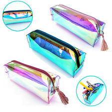 Holograma caja lápiz bolsa cremallera Bolsos almacenaje Cosméticos maquillaje