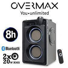 Tragbarer Lautsprecher Bluetooth BASS Overmax SoundBeat 5.0 Musicbox Radio FM