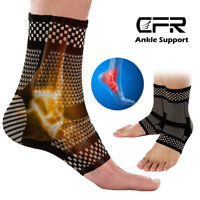 Copper Ankle Support Brace Compression SocksSleeve  Sports Foot Arthritis Pain