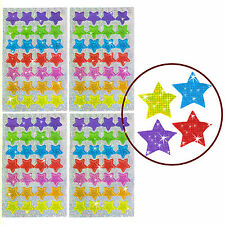 Oblique-Unique® - 112 x Glitzer Sterne - Regenbogen Sticker für Kinder