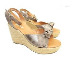 Paul Green Bow Espadrille Slingback Sandals Shoe 9.5 US Pump Wedge