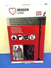 BENSON Gehstock faltbar Gehhilfe mit LED Licht Lampe EASY WALKING ERGO