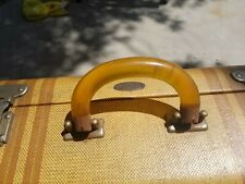 VINTAGE SKYWAY SUITCASE  WITH LUCITE HANDLE