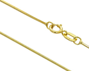 9CT GOLD CHAIN 16 inch SNAKE CHAIN  9 CARAT YELLOW GOLD NECKLACE HALLMARKED NEW