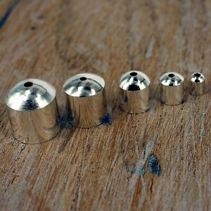 End Caps Silver Plated , Cord Tips for Jewellery Making. 6 Sizes  24 pack C15
