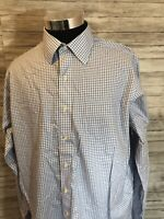 Mens BROOKS BROTHERS  17 -36 XL French Cuff Plaid Supima  Non Iron Shirt A14