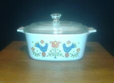 """Corning Corelle """"Country Festival"""" 1 1/2 Qt Covered Casserole A-1 1/2-B / Lid"""