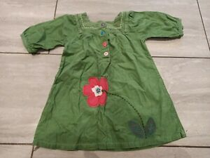 NEXT Girls Kids Cotton Corduroy Embroidery Dress Age 3-4yrs fit chest 24Rins