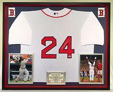 Premium Framed Manny Ramirez Autographed Boston Red Sox Jersey - PSA COA redsox