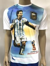 T-Shirt 3D Russia 2018 Team Argentina WM Cap Messi S/M/L/XL/XXL