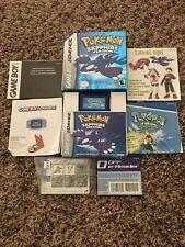 Pokemon SAPPHIRE VERSION CIB Complete Box Nintendo Gameboy AUTHENTIC