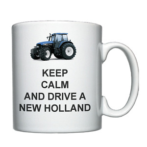 Keep Calm and Drive a New Holland - Personalised Mug / Cup - Tractor Farmer