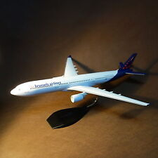 Large 1/120 Brussels Airlines Airbus A330-300 Airplane Model with Stand