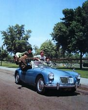 MONKEES band clipping TV show 1966 color photo MG sports car pre-Monkeemobile