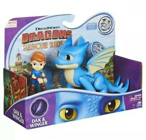 NETFLIX Dragons Rescue Riders Dak And Winger Figures - Sound DREAMWORKS 2020
