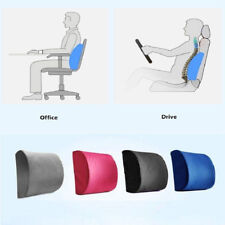 Memory Foam Lumbar Support Pillow Cushion to Ease Lower Back Pain for Car Chair