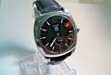 MENS TAG HEUER MONZA AUTOMATIC BLACK DIAL NEW LEATHER BAND WR2110