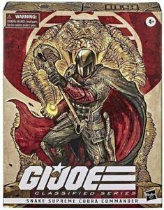 GI Joe Classified Series Snake Supreme Cobra Commander Hasbro Pulse New In Box