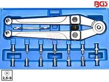 BGS 1464 17-tlg Satz Zapfenschlüssel mit 2,5-9mm Zapfen Stirnlochschlüssel