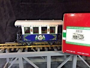 LGB Blue Christmas Train Passenger Car * G scale *