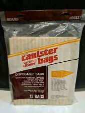 Kenmore Vacuum Cleaner Canister Bags 205033 12 Bag Pack