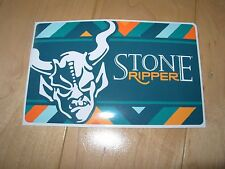 """STONE BREWING Ripper Rectangle bastard 5"""" STICKER decal craft beer brewery"""