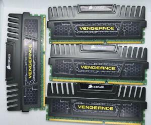 CORSAIR Vengeance RAM 32GB (4 x 8GB) DDR3 1600 (PC3 12800) CMZ16GX3M2A1600C10
