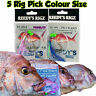 5x fishing Rig Snapper Flasher Circle Hook Paternoster Rigs Live Bait Mulloway