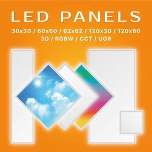 LED Panel 30x30 60x30 62x62 120x30 120x60 Deckenleuchte 3000/4000/6000K Ecolicht