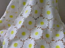 White Blossom Guipure Venice Lace French Embroidery Fabric Coloful Flowers
