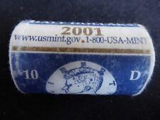 2001-D 50C Kennedy Half Dollar Mint Bu Roll - FREE SHIPPING!!!!!