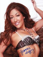 JEANNIE DUFFY Signed 8x10 Photo HOT & SEXY MODEL / WPT ROYAL FLUSH GIRLS