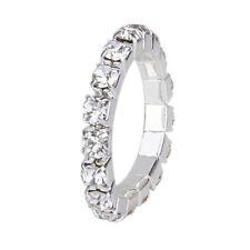 1 Silver Diamante Rhinestone Toe Ring Stretch Adjustable